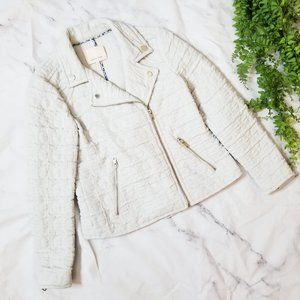 Rebecca Taylor | Pickstitch Quilted Moto Jacket